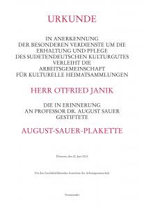 AugustSauerPlakette_Otfried Janik